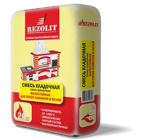 Смесь REZOLIT кладочная глино-шамотная жаростойкая 3кг