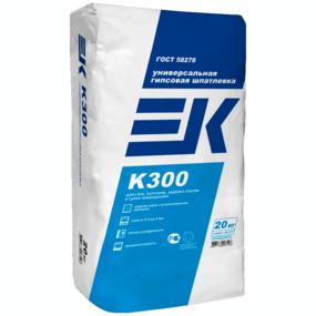 Шпатлевка гипсовая ЕК К300 20 кг (универсальная белая) (поддон 56)