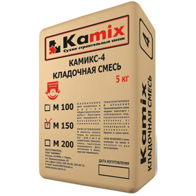 Смесь КАМИКС-4 М-150 д/штукатурки и кладки (5кг)